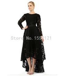aliexpress com buy designer black lace high low evening dresses