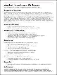 resume exles housekeeping sle housekeeping resume crew member resume sle unforgettable