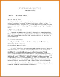 Treasurer Job Description Sample Journeyman Electrician Resume Template Sample Resume Sample
