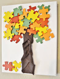 fall autumn puzzle piece kid u0027s craft stand for preschool and