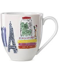 kate spade new york illustrated mug created for macy u0027s home
