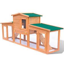 der großer kaninchenstall kleintierhaus hasenstall holz mit dach