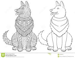 antistress coloring page with dog stock vector image 63996994