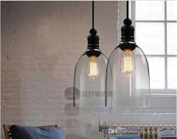modern crystal bell glass pendant lights glass hanging light