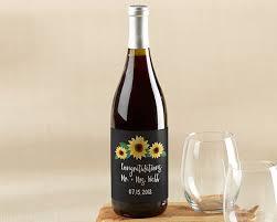 personalized wine bottle labels sunflower kate aspen