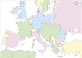 Map Of Europe In 1914 by Europe 1914 Free Map Free Blank Map Free Outline Map Free Base
