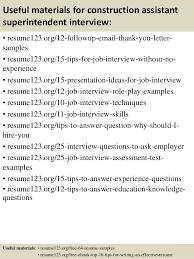 Construction Superintendent Resume Templates Top 8 Construction Assistant Superintendent Resume Samples
