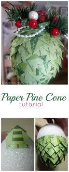 craftaholics anonymous rtw paper pine cones tutorial