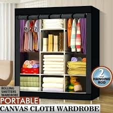 Cloth Closet Doors Closet Clothes Organizer Fabric Steel Portable Clothes Rack Closet