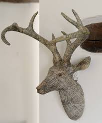 wooden stag wall antler stags