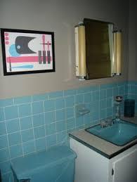Blue Bathroom Tiles Ideas Colors Replicating Alice U0027s Blue 50s Bathroom Tile Floor 50s Bathroom