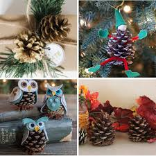 Owl Decorations For Christmas Tree by 40 Creative Pinecone Crafts For Your Holiday Decorations
