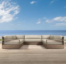 Teak Sectional Patio Furniture Marbella Collection Weathered Grey Teak Outdoor Furniture Cg