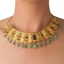 collar gold necklace images Designer 18k solid gold multi stone byzantine collar necklace jpg