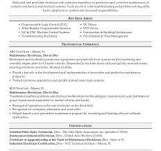 sample resume electrician maintenance sample resume research