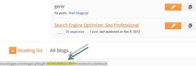 blogger com how to find out blogger blog id and post id unique id number