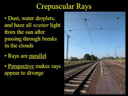crepuscular rays dust water droplets and all scatter light