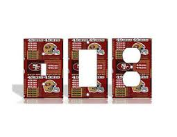 san francisco 49ers home decor san francisco 49ers 2 red light switch covers football nfl home