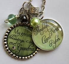 Wedding Gift Necklace Personalized Grandma Gift My Greatest Blessing Call Me Grandma
