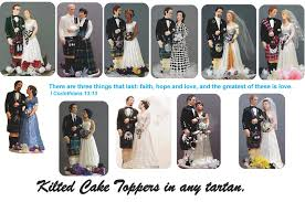 personalized wedding cake tops to look like the bride and groom on