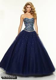 prom dresses gowns style 97094 jeweled beading on tulle