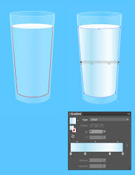 tutorial illustrator glass create a detailed glass of milk and cookies in adobe illustrator