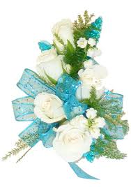 Teal Corsage Teal And White Corsage
