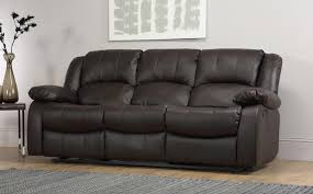 3 Seater Leather Recliner Sofa Dakota 3 Seater Leather Recliner Sofa Brown Only 549 99