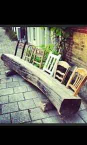 Plans For Wooden Garden Chairs by Best 25 Log Chairs Ideas On Pinterest Tree Chair Rustic