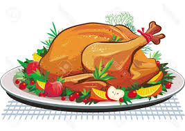 roast turkey on the plate stock vector chicken thanksgiving