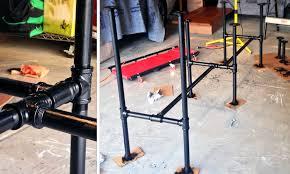 diy adjustable standing desk from steel pipe u0026 ikea countertop