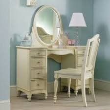 Vanity Mirror And Bench Set Kids Accents Off Pink Off White Mdf Cotton Vanity Mirror Bench