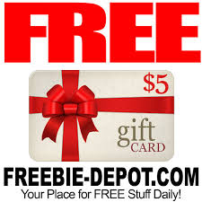 5 dollar gift cards free 5 gift card of your choice freebie depot