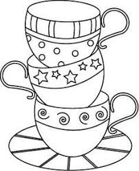 Drawn Tea Cup Colouring Page Pencil And In Color Drawn Tea Cup Cup Coloring Page