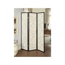french script espresso 3 panel folding screen