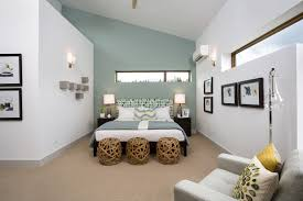 Accent Walls In Bedroom by Bedroom Attic Bedroom With Cambridge Blue Accent Wall Contrast