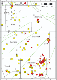 Map Of Denton Texas Study Finds Correlation Between Injection Wells And Small