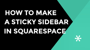 Squarespace How To Make A Sticky Sidebar In Squarespace Using Jquery Youtube