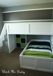 built in bunk beds stunning diy built in bunk beds photo ideas amys office