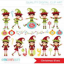 christmas elves santa s christmas elves vector clipart by myclipartstore