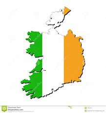 ireland map flag stock images image 7835244