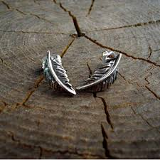 feather stud earrings best feather stud earrings photos 2017 blue maize