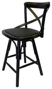 Cross Back Bar Stool Black Crossback Wood Stool Traditional Bar Stools And Counter