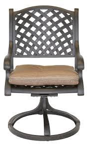 Swivel Rocker Patio Chair nassau cast aluminum powder coated 4 swivel rocker dining chairs