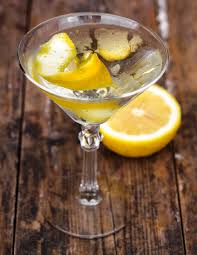 dry gin martini with lemon twist recipe the ideas kitchen