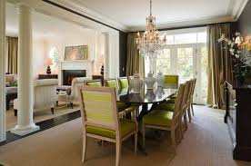 dining room beautiful open dining room design with chartreuse