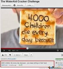 Cracker Memes - the water aid cracker challenge by imbanessjhay meme center