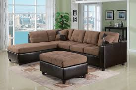 Milan Leather Sofa by Milano Chocolate Reversible Sectional Sofa With 2 Pillows