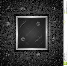 Black Card Invitation Royal Black Invitation Card Design Seamless Pattern Included Stock