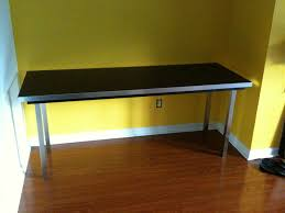 large simple ikea hacked desk countertop plus legs and frame